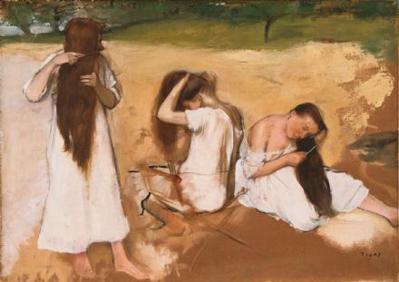 Degas, Edgar: Women Combing Their Hair. Fine Art Print/Poster. Sizes: A4/A3/A2/A1 (003781)